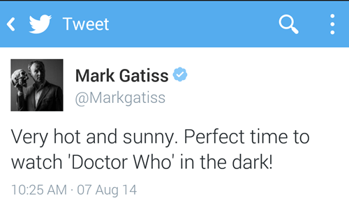twitter,mark gatiss,summer