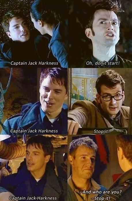 flirting,Captain Jack Harkness,10th doctor