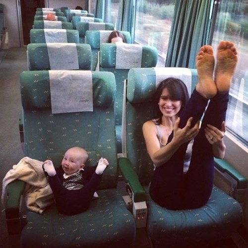 baby parenting mom train yoga - 8282018560