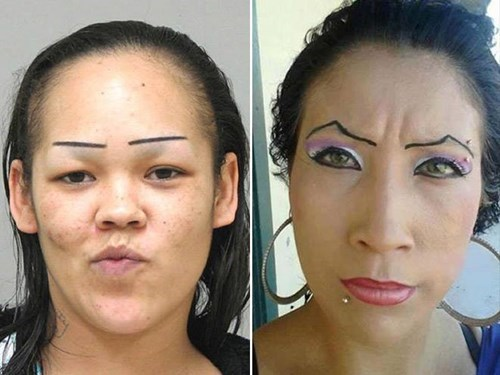 makeup poorly dressed eyebrows - 8282094080
