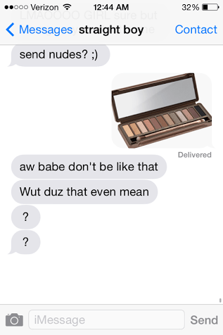 nude,make up,sms,wordplay
