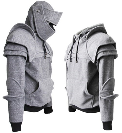 poorly dressed sweatshirt etsy hoodie armor knight win - 8282129152