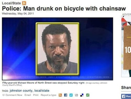 beer chainsaw drunk bike funny - 8282291200