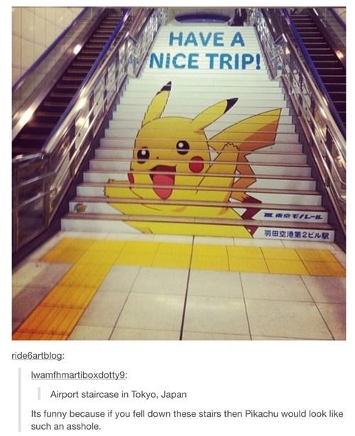 stairs,pikachu