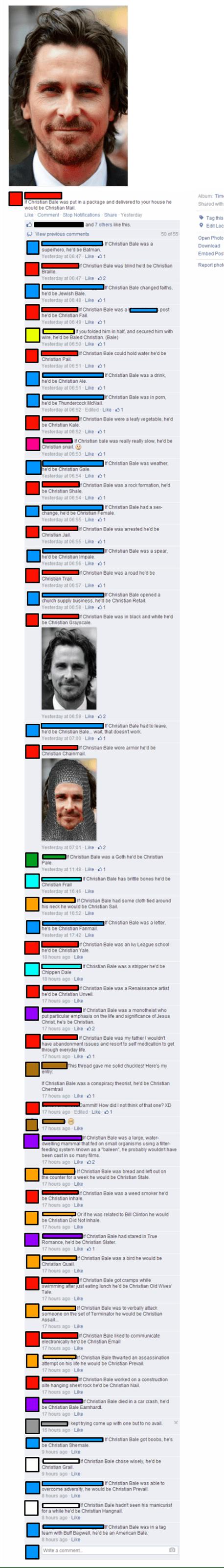 christian bale facebook comments