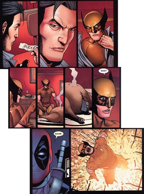 deadpool Straight off the Page wolverine - 8283936768