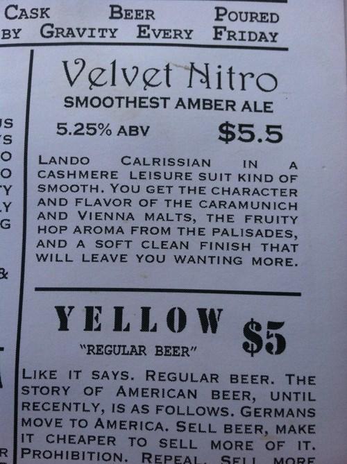 beer,Lando Calrissian,funny