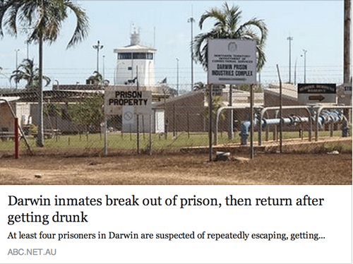 escape jail australia Darwin prison - 8284040448