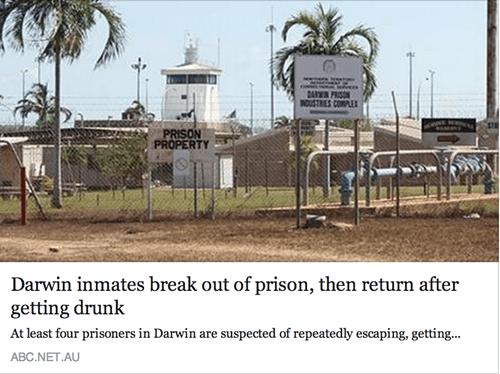 escape jail australia Darwin prison - 8284040448