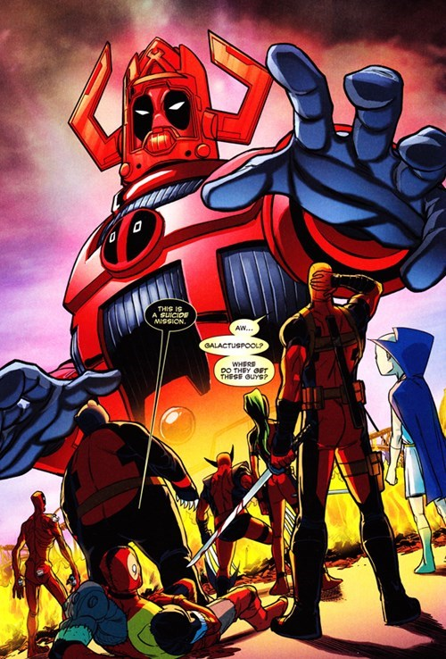 deadpool,galactus,Straight off the Page