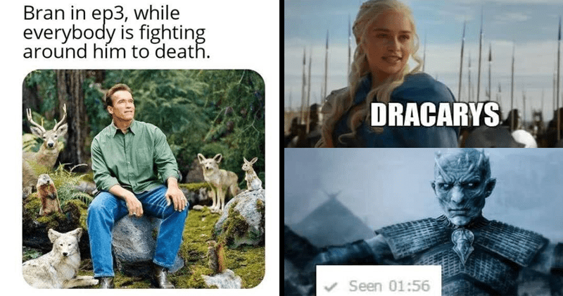 Funny memes, game of thrones, battle for winterfell.