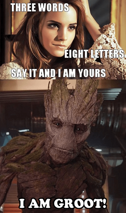 Groot gets all the chicks