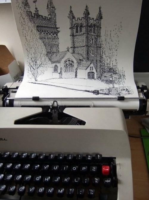 artsy fart,typewriter