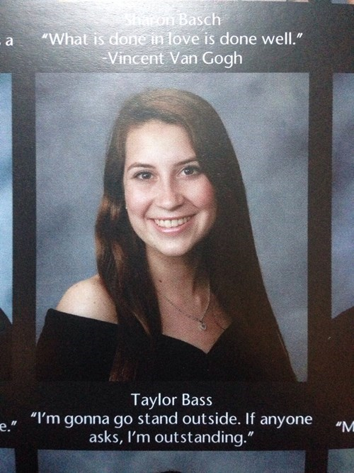 yearbook quote funny g rated School of FAIL