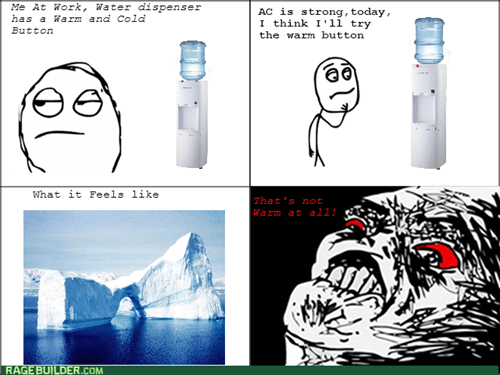 rage,work,water cooler,temperature