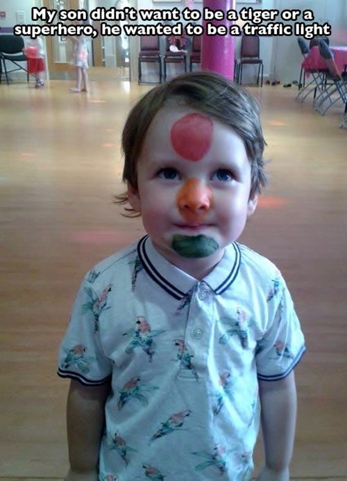 traffic light,kids,parenting,face paint,g rated
