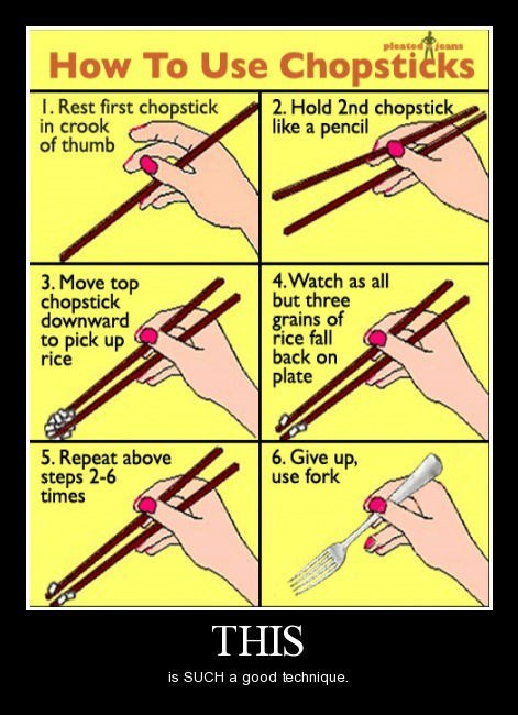 chopsticks instructions funny - 8284704256
