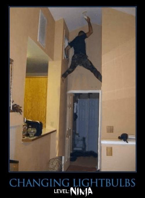 wtf ladder ninjas funny - 8284706304