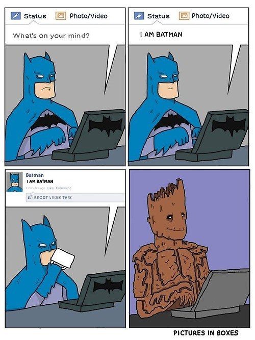 batman,groot,web comics