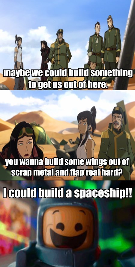 lego movie,crossover,cartoons,korra