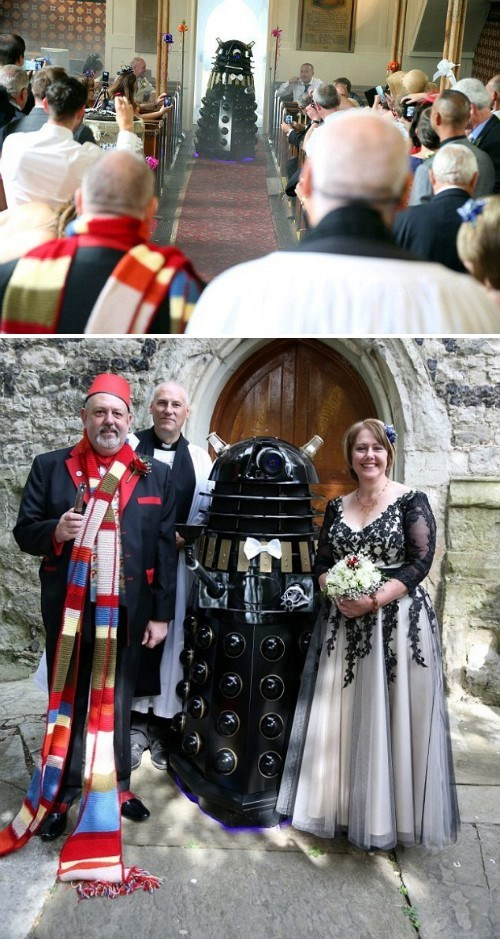 funny wedding photos,Whovian,daleks