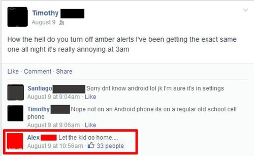 amber alert annoying phone failbook - 8284924928