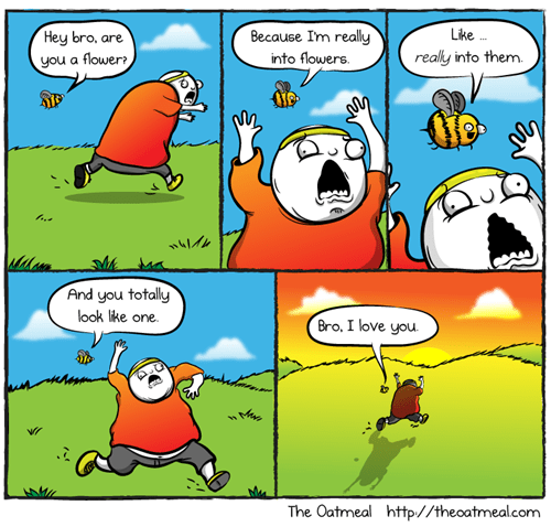 misunderstandings critters bees flowers web comics - 8284990976