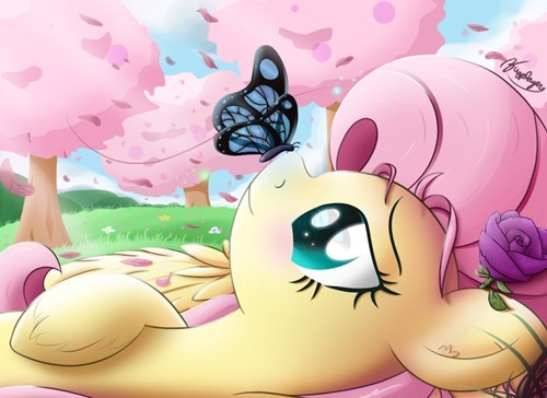 Fan Art fluttershy squee - 8285019136