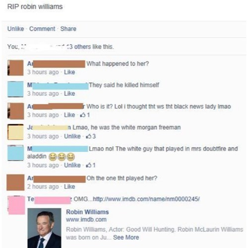 facepalm robin williams rip - 8285080832