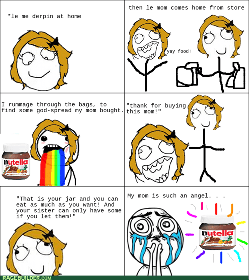 nutella grocery shopping mom - 8285588224