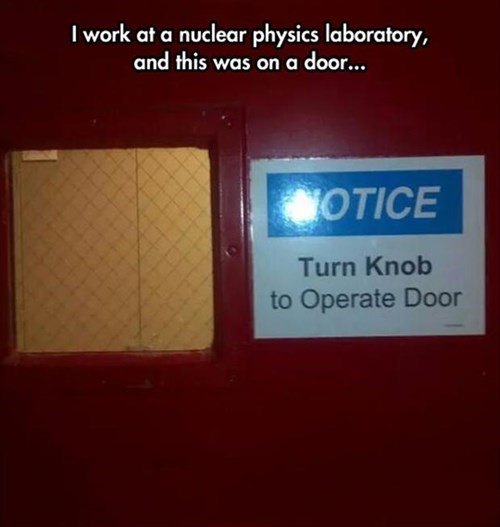 monday thru friday door sign science - 8285617664