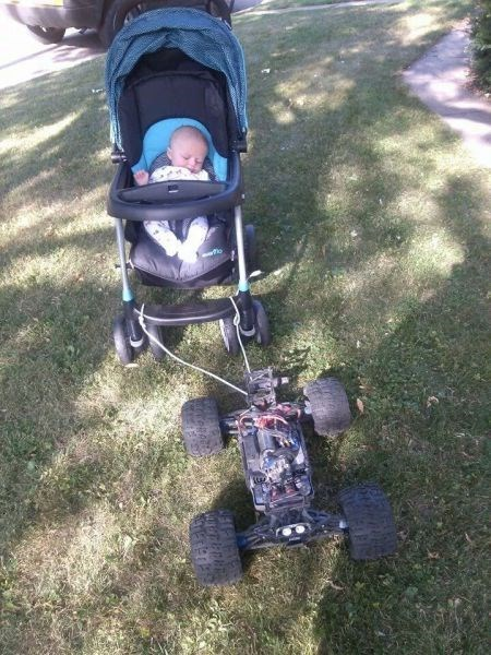 baby RC car parenting stroller - 8285683712