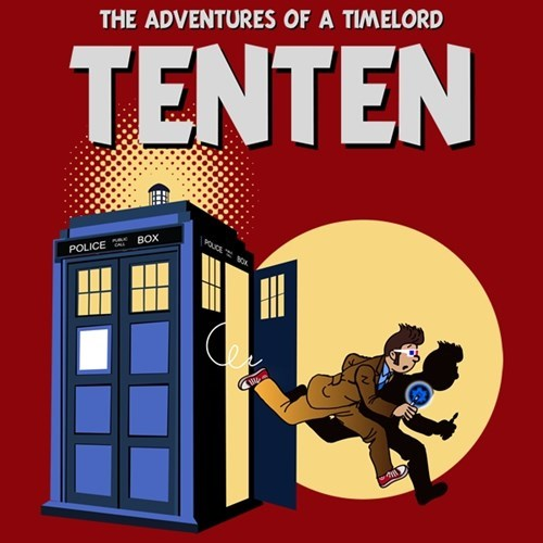 Tintin,tshirts,10th doctor