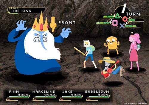 crossover,Fan Art,Valkyrie Profile,mashups,adventure time