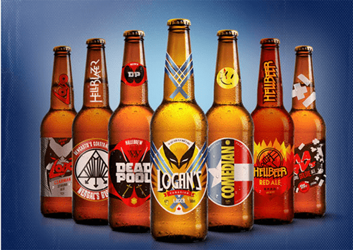 beer art awesome label superheroes wolverine funny after 12 g rated - 8285805312