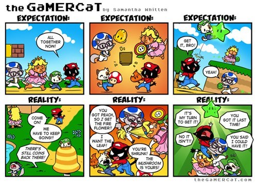 Multiplayer,the gamer cat,mario,web comics