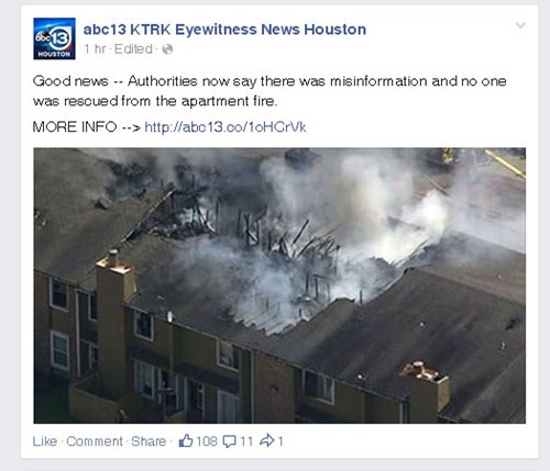 news whoops typo fire