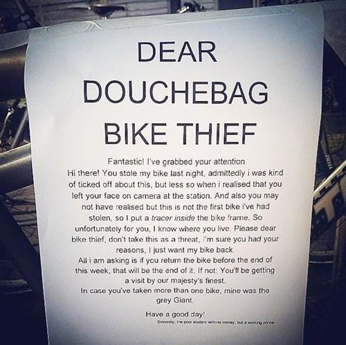 sign,revenge,bike