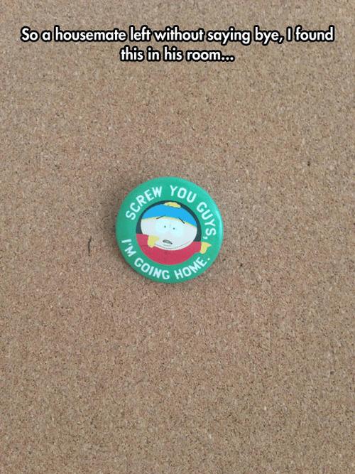 South Park roommates cartman