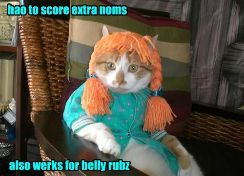 hao to score extra noms also werks for belly rubz
