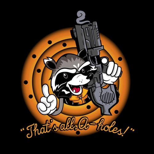 looney tunes tshirts rocket raccoon - 8286144512