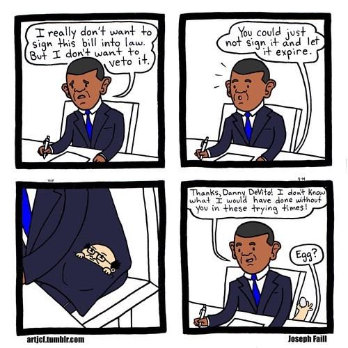 eggs danny devito president barack obama web comics - 8286456832