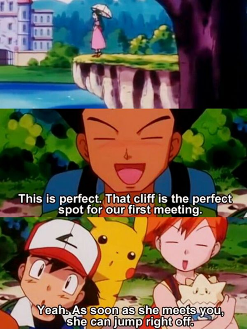 brock,Pokémon,cliff,funny