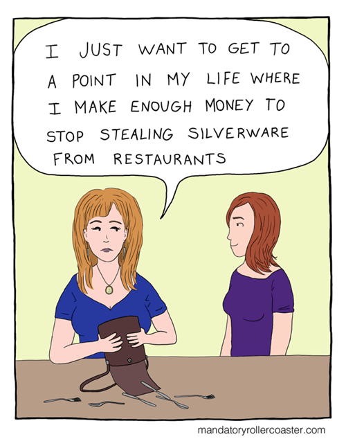 in this economy,silverware,theft,web comics