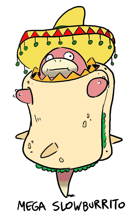 Fan Art burrito mega slowbro food - 8286626816