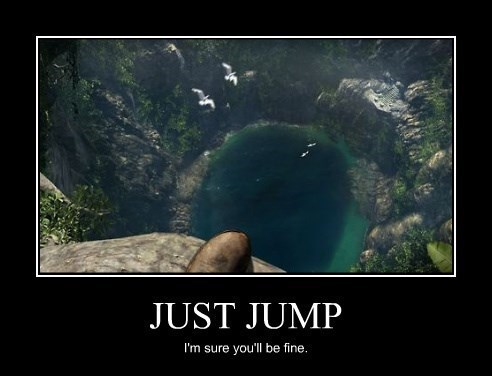 bad idea,jump,idiots,funny