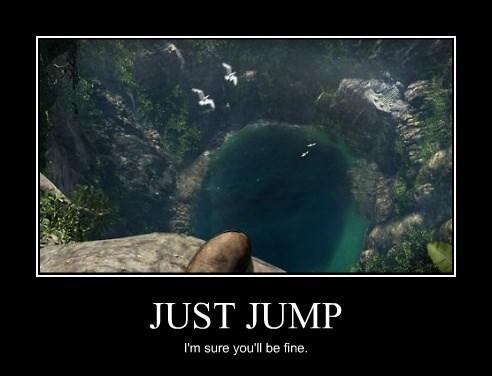 bad idea jump idiots funny - 8286635776