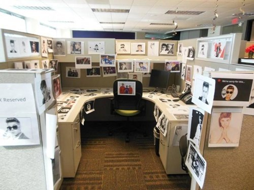 monday thru friday cubicle prank prank justin bieber cubicle g rated - 8286682880