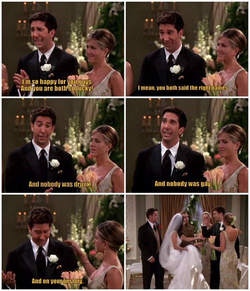 gross friends weddings
