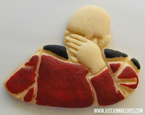 baking Captain Picard facepalm nerdgasm cookies - 8286825472